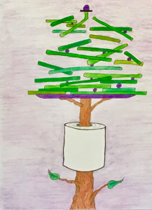 TREE IN CYLINDER
